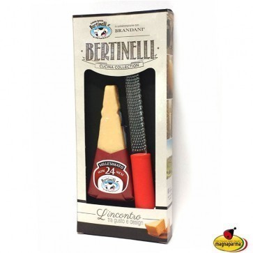 Parmigiano Reggiano PDO Millesimato 24 months aged and grater - Cucina Collection Bertinelli
