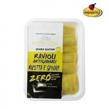 Organic italian ravioli with ricotta and spinach 130 g