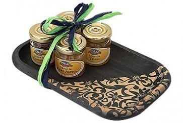 Liberty tray and 4 x 35 g jars of assorted honey