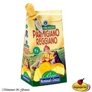 Organic Parmigiano Reggiano PDO 24 months in a cardboard gift box 1 kg