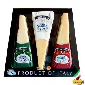 "Product of Italy - Special pack with three pieces of Parmigiano Reggiano PDO ""Millesimato"""