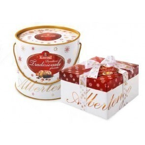 Panettone Traditional cake frosted 1 kg - cylinder