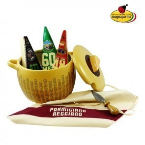 TUREEN AND SELECTION OF HIGH SEASONING PARMIGIANO REGGIANO