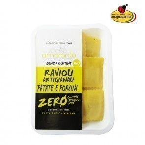 Organic italian ravioli with potatoes and Porcini 130 g