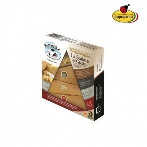 The climbing of taste: special pack with 4 pieces of Parmigiano Reggiano PDO