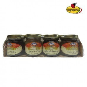 Blister of 4 sauces for cheeses and meats
